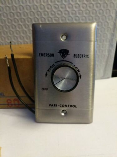 EMERSON SW80 STAINLESS STEEL WALL FAN SPEED CONTROL 120V, 1.