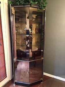 Glass display cabinet $50.00