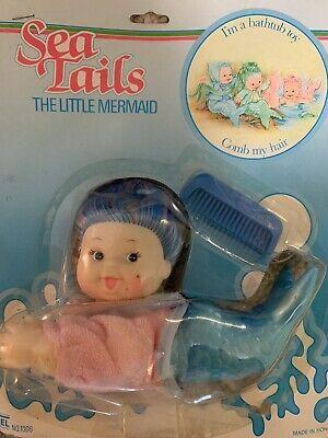 Vintage Sea Tails The Little Mermaid Bathtub Toy Moc 1980's Fishel Seawees Type
