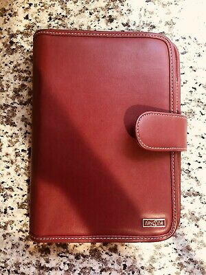 Franklin Covey Day One Classic Red Faux Leather Planner 7 Ring Binder Agenda