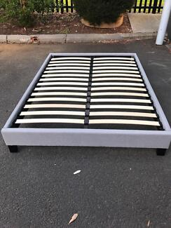 Brand new fabric bed base frame queen$160