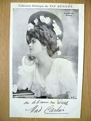 Postcards of Edwardian Theatre & Opera Stars- M. CARLIER ODEON by Vin Desiles