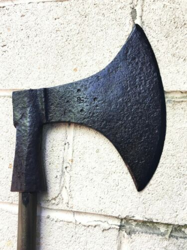Rare Big Antique French Executioners - Execution Axe  Battle axe