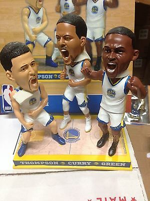 Stephen Curry Thompson Green Golden State Warriors Triple Bobblehead New 1 144