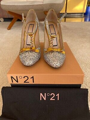 N21 Silver Glitter Mary Jane Pump-Brand New With Box Size 38