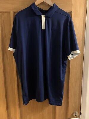 Nike Dri Fit Golf Polo Shirt Blue Size XL