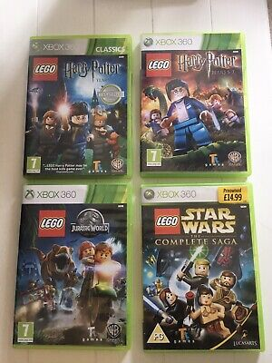 Xbox 360 Games LEGO Harry Potter Star Wars Jurassic World Years 1-4 5-7