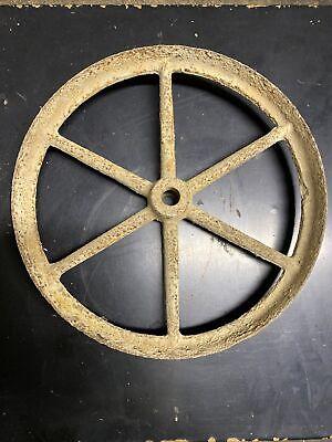 Antique Vintage 14 12 Cast Iron Flywheel Hit Miss Steam Engine Belt Pulley