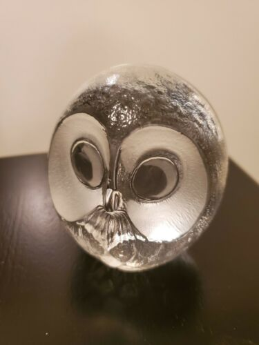 Mats Jonasson Signature Collection Full Lead Crystal Owl Laser Signed/ Numbered