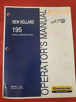 New Holland Operators Manual Manure Spreader 195