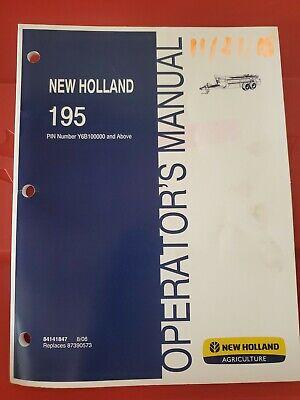 New Holland Operators Manual Manure Spreader 195