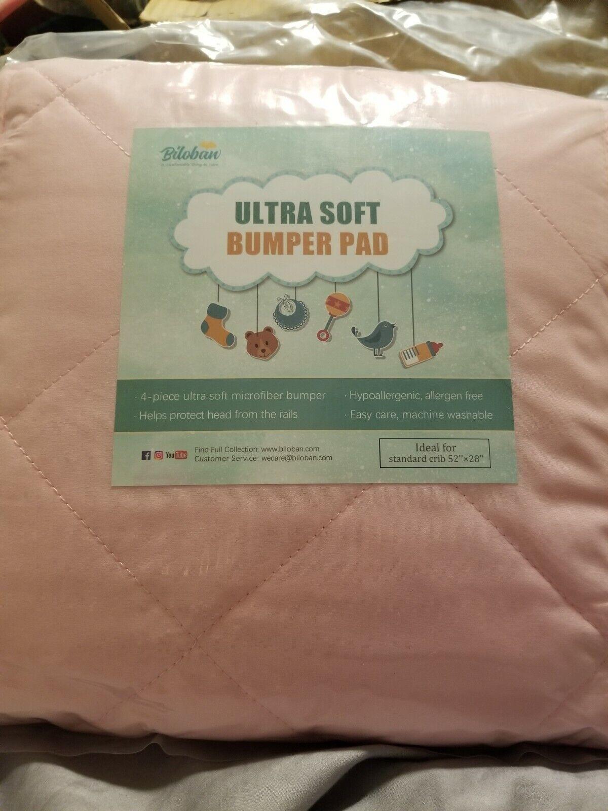 Biloban Baby Sleep Solution Crib Bumper Pads Pink  - $19.99