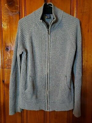 Nautica Full Zip Up Mock / Turtleneck Sweater Mens Medium