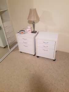 2 white bedside drawer units Maroubra Eastern Suburbs Preview