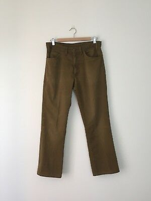 """LEVI'S Sta-Prest """"Big E"""" 1960s Chinos Size 32 X 27 Button #10 Made In USA"""