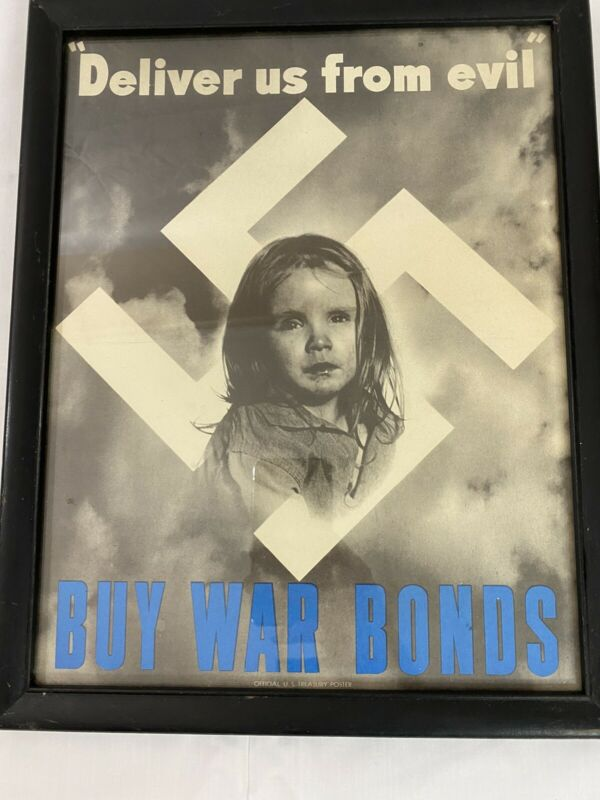 Deliver Us From Evil Buy War Bonds (1943) WWII Propaganda Poster