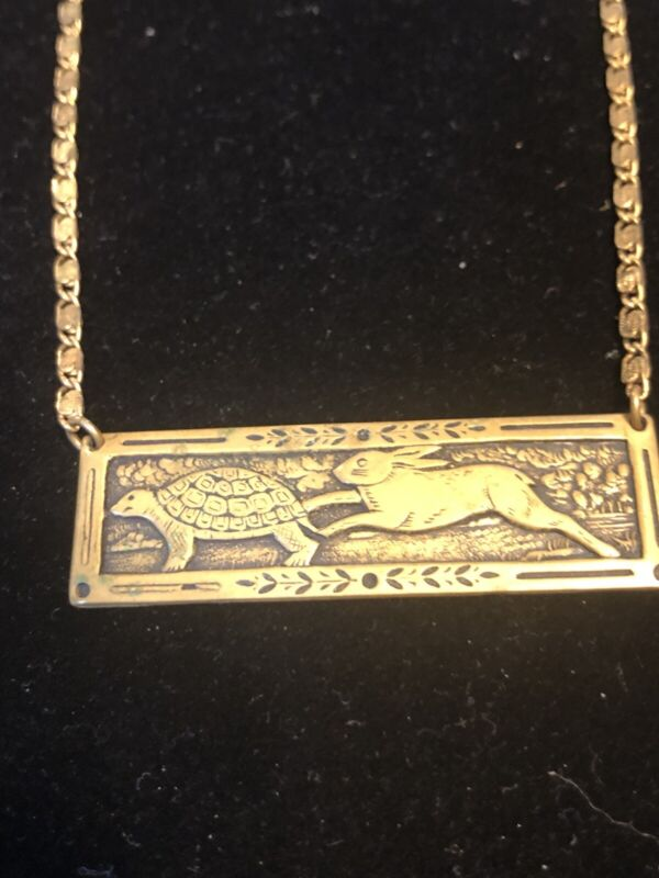 """Tortoise And Hare  16"""" Necklace"""