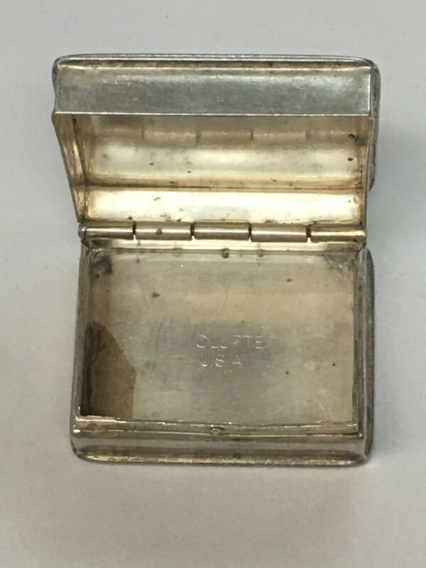 RARE ANTIQUE Volupte USA 925 Sterling Silver Pill Case 13.2 Grams OF SILVER