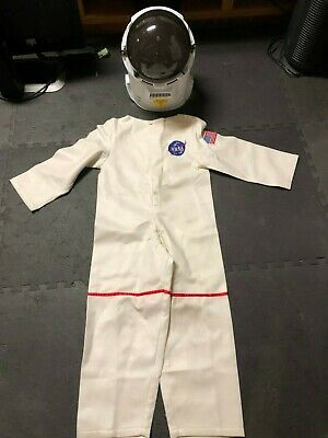 Charades Child White NASA Astronaut NASA Costume with Helmet Size Youth XL - Astronaut Costume With Helmet