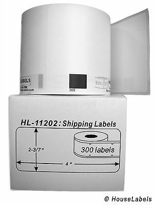 1 Roll Of Dk-1202 Brother-compatible Shipping Labels Bpa Free