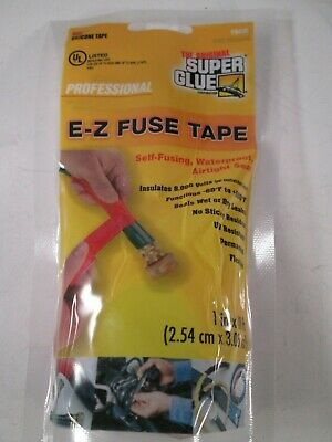 Super Glue Red 15408 E-z Fuse Self-fusing Waterproof Silicone Tape 1 X 10