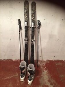 Women's k2 skis with boots and poles
