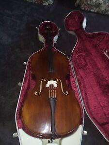 Cello 4/4 Full Size Raghetti & Hiscox Liteflite Hard Case Ivory As New Oakden Port Adelaide Area Preview