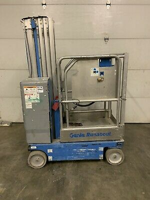 2012 Genie Gr20 20 Electric Runabout Scissor Vertical Mast Drivable Man Lift