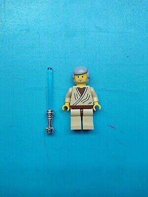 Lego Star Wars Minifigure Jedi Obi-Wan Kenobi Old Gray Hair, Lightsaber 4501!