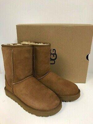 UGG Women's Classic Short II Chestnut Suede Water Resistant Boots