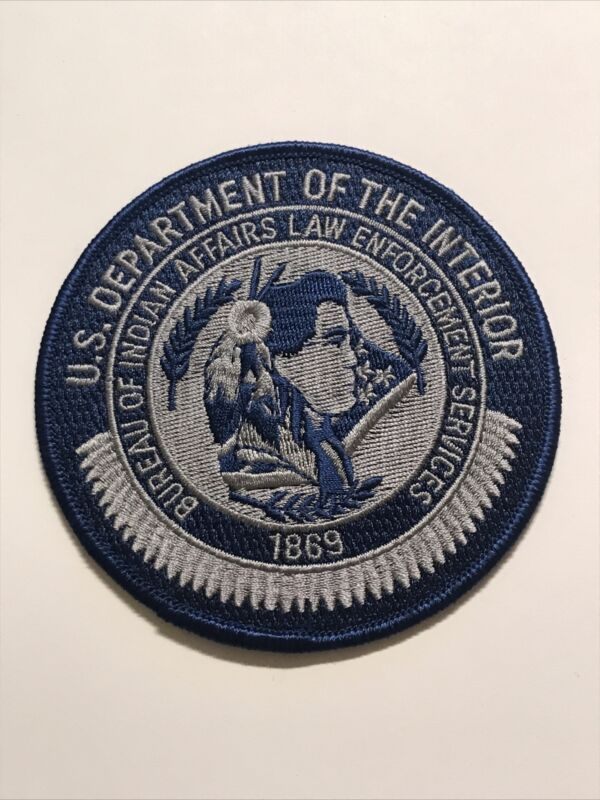 US Dept Of The Interior Bureau Of Indian Affairs Law Enforcement Police Patch