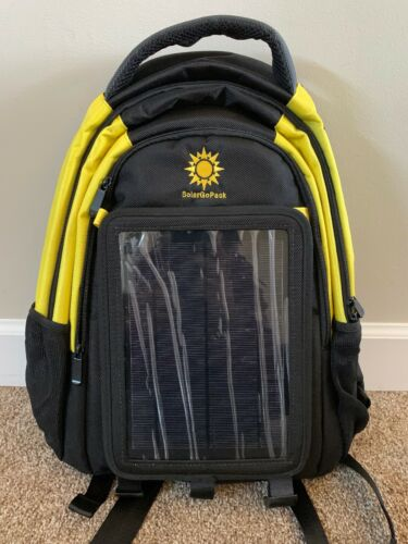 black ballistic nylon solar lithium ion battery