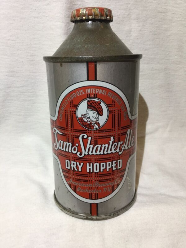 """1/1 TAM O'SHANTER ALE CONE TOP BEER CAN """"NICE"""""""