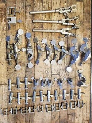 43 Vintage Lab Utility Clamps Fisher Scientific Castaloy Humboldt Mfg Co.