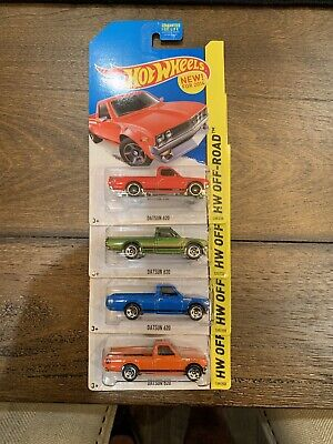 Lot Of 4 Hot Wheels Datsun 620, Kmart Blue, Orange Green And Red. SUPER TH
