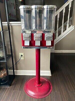 1-800 Vending Machine Triple Play Three Select Gum Candy Tri Vend Bulk 25 Cent