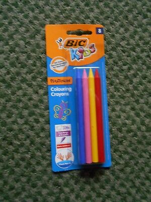 Bic Kids Plastidecor Colouring Crayons - Pack of 8 Assorted Colours