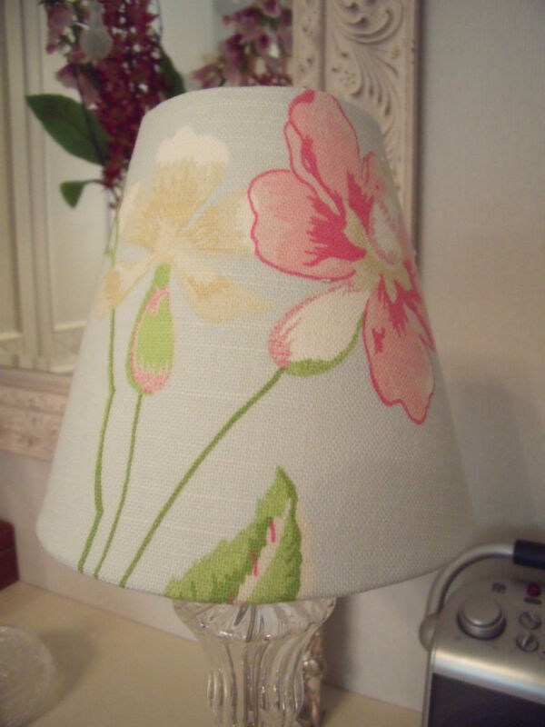 Handmade+Candle+Clip+Lampshade+Laura+Ashley+Summer+Palace+fabric+all+colours+