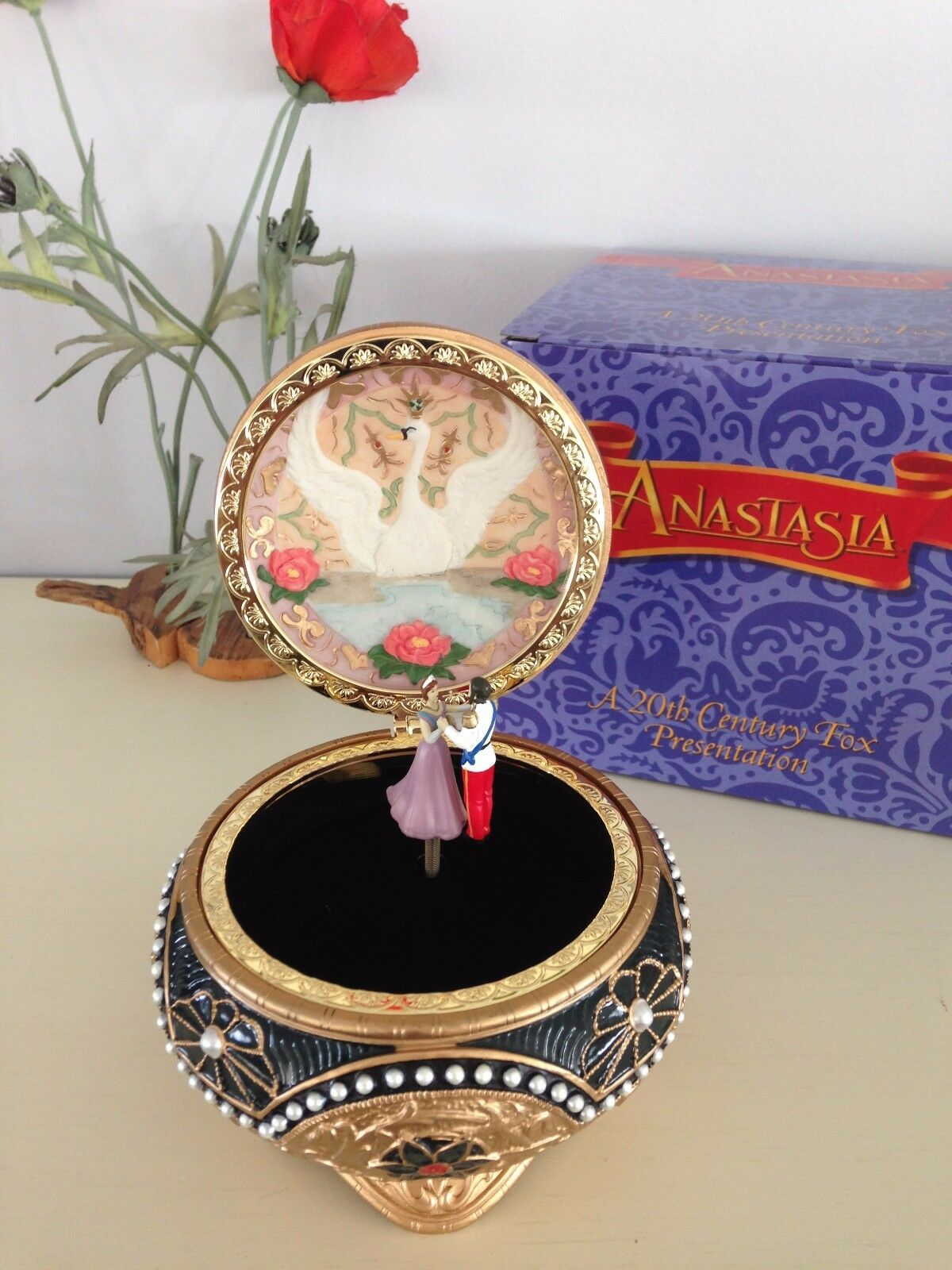 Anastasia Alexandra & Nicholas Hinged Music Box San Francisco Music Box Co. New