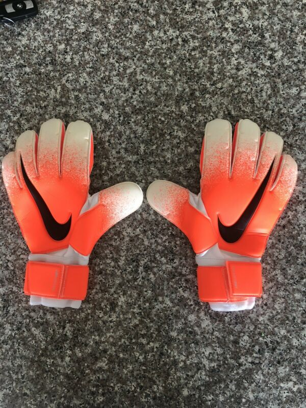 Nike GK Goalkeeper SGT Premier Soccer Glove - Sz 10 - GS3375-100 - White/Orange