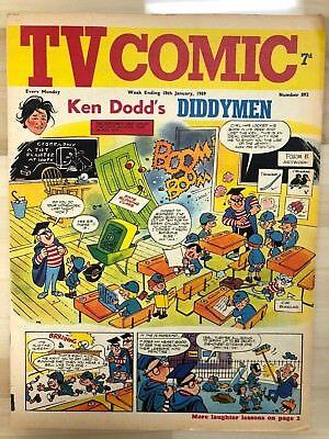 TV COMIC #892 weekly British comic book January 18 1969  Avengers Doctor Who