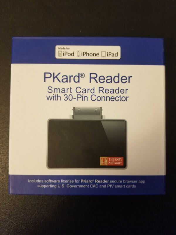 Thursby PKard Reader Smart Card Reader with 30-Pin Apple Connector.