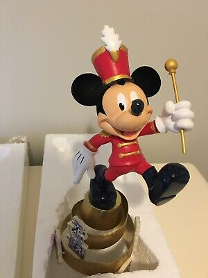 Gorgeous Disney Mickey Mouse Christmas Tree Topper 2003 RARE Bandleader Luxury