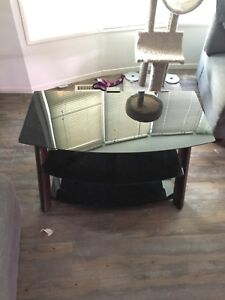 Three  tier glass tv stand