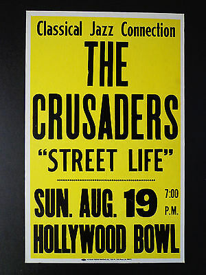 THE CRUSADERS AT THE HOLLYWOOD BOWL -  ORIGINAL VINTAGE CONCERT PROMOTION POSTER