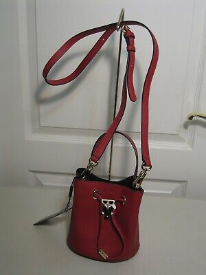 KARL LAGERFELD PARIS MAYBELLE BUCKET BAG RED NEW