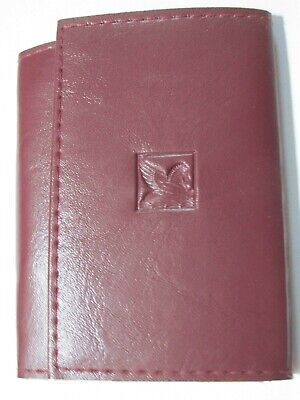 Vintage Genuine Brown Leather Personal Info Business Card Holder