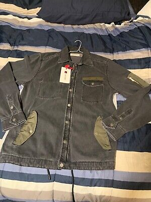 Brand New Mens Zara SPLS Limited Collection Denim-SweaterBack Jacket With Tags M