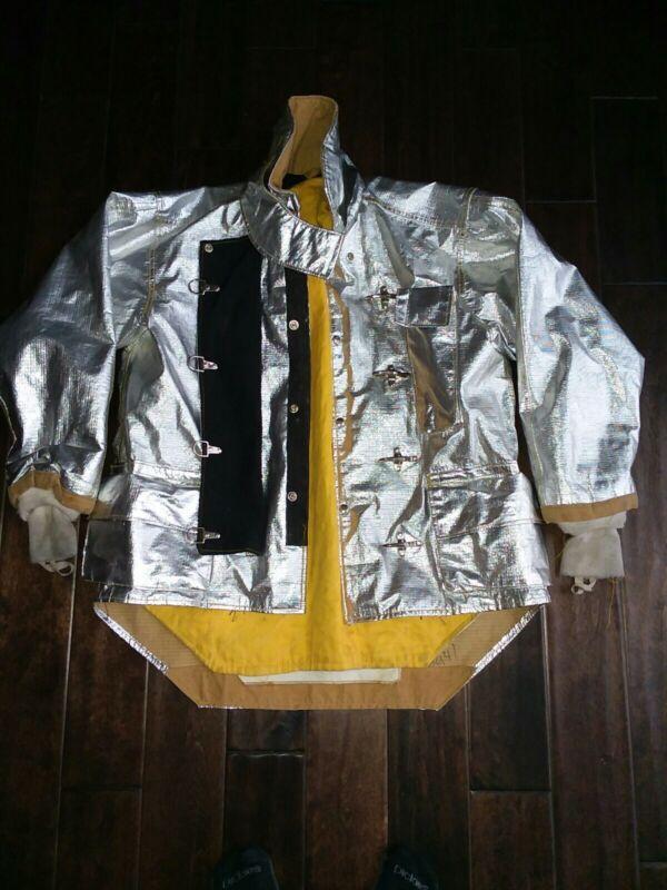 Morning pride ALUMINIZED FIRE JACKET Proximity 1976, 46 chest, 29/35, 34 sleeve