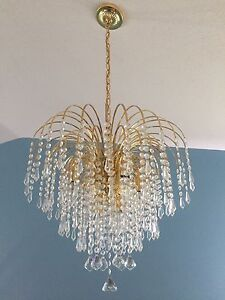Real Crystal Chandelier x2